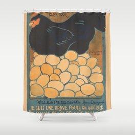 Vintage poster - I am a Fine War Hen Shower Curtain