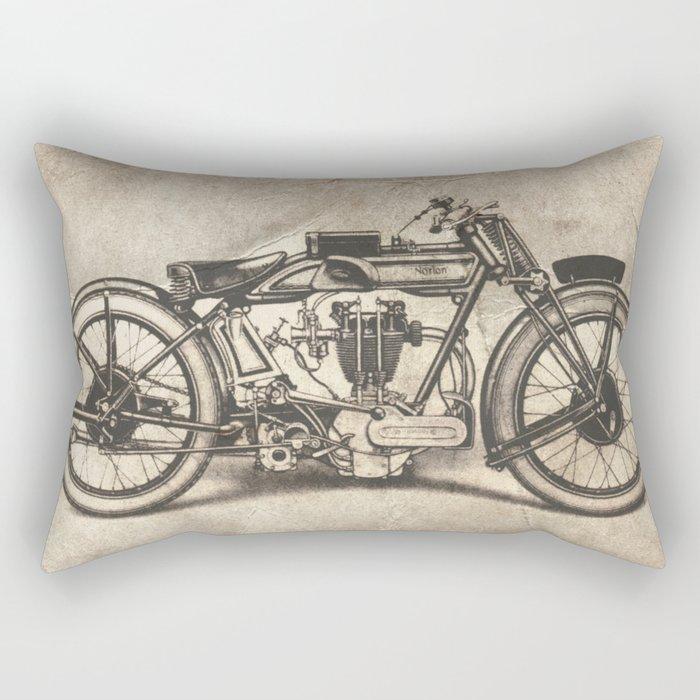 Norton Motorcycles Rectangular Pillow