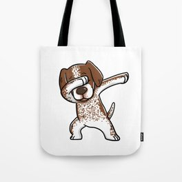 Dabbing German Shorthaired Pointer Dog Dab Dance Tote Bag