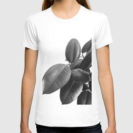 Ficus Elastica #23 #BlackAndWhite #foliage #decor #art #society6 T-shirt