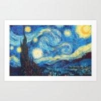 Lego: The Starry Night Art Print