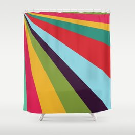 Bright Rays of Light - Circus Tent - Pride Beams - 57 Montgomery Ave Shower Curtain