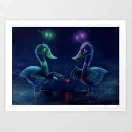 Duck Brothers by Cinemamind Art Print