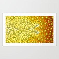 Cheerful bubbles Art Print