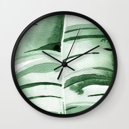 Banana Leaf no.9 Wall Clock