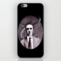 cthulu iPhone & iPod Skins featuring Shuddering At The Nameless Things by Zombie Rust
