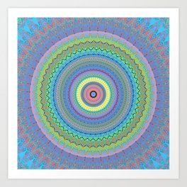 Vibrant Colorful Mandala Design Art Print