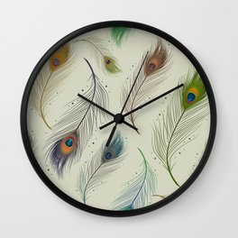 Peacock feather design Wall Clock