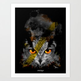OWL NIGHT Art Print