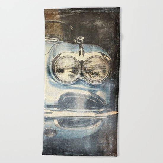 Corvette Beach Towel