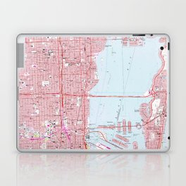 Vintage Map of Miami Florida (1962) Laptop & iPad Skin