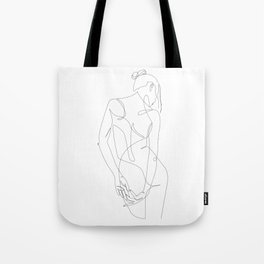 ligature - one line art Tote Bag