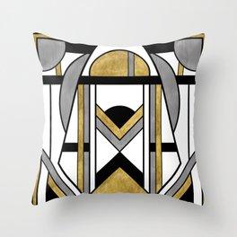 Up and Away - Art Deco Spaceman Throw Pillow