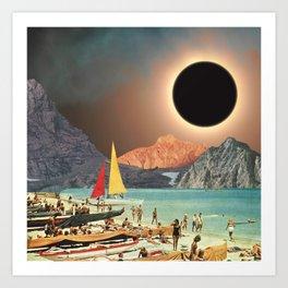 Eclipse Beach Art Print