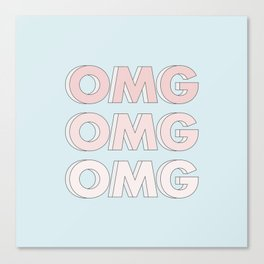 OMG OMG OMG Canvas Print