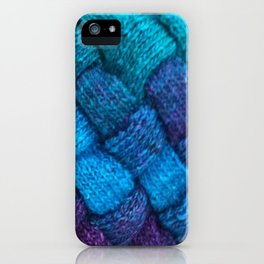 Blue Entrelac iPhone Case
