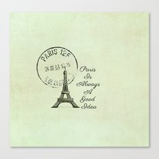 White Paris is Always a Good Idea Audrey Hepburn  Canvas Print