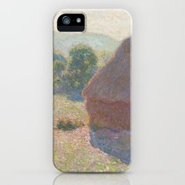 Meules, milieu du jour (Haystacks, midday) by Claude Monet iPhone Case