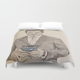 """""""Ben and Jerry and Ana"""" - Fifty Shades Darker Duvet Cover"""