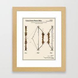 Archery Bow Patent Framed Art Print