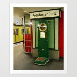 Potsdamer Platz Station Art Print