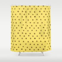polkadot Shower Curtains featuring Everyone Love A Polkadot by Katie Copeland