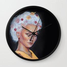Metallic Lady Wall Clock