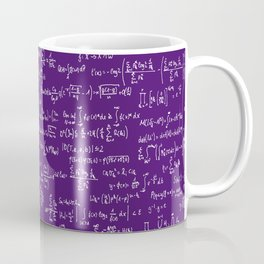 Math Equations // Purple Coffee Mug