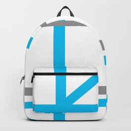 Blue & Gray lines Backpack