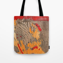 The tree of life gold abstract Tote Bag
