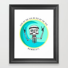 Stoked Up to the Bones Framed Art Print