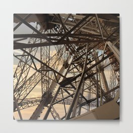 France Photography - Inside Of The Eiffel Tower Metal Print