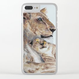 Love Lion Clear iPhone Case