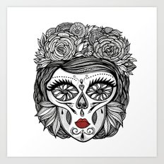 Miss Calavera Art Print