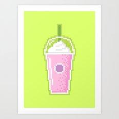 Pixel Milkshake Art Print