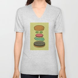 Bob's Burgers Hamburger Parts Unisex V-Neck