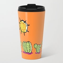Cacti In The Arizona Desert Sun Travel Mug