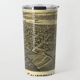 Aerial View of California, Pennsylvania by T.M. Fowler (1902) Travel Mug