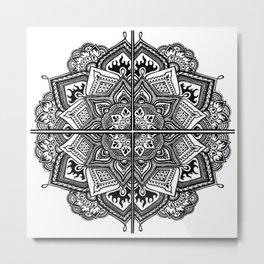 Mandala Fleur Metal Print
