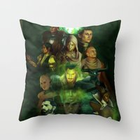 dragon age inquisition Throw Pillows featuring The Inquisition by Nero749