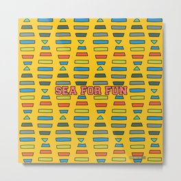 Sea for fun (yellow) Metal Print