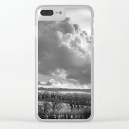Towering Clouds Over Wiltshire Clear iPhone Case