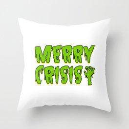 Merry Crisis Capitalist Gift Throw Pillow