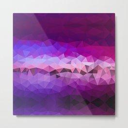 Violet poly art pattern Metal Print