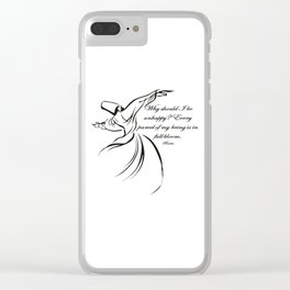 Every Parcel Of My Being Is In Full Bloom Rumi Quote Clear iPhone Case