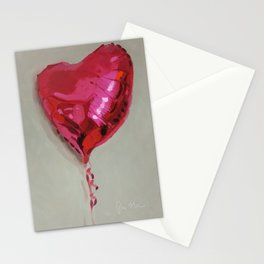 Magenta Balloon Stationery Cards