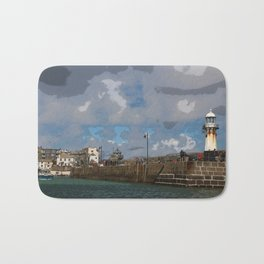 Lighthouse at St Ives, Cornwall, England Bath Mat