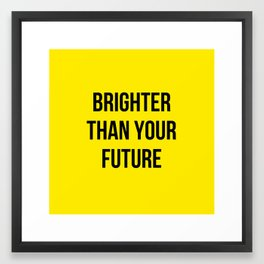 shining bright Framed Art Print