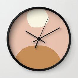 Nordic abstract art in earthy hues Wall Clock