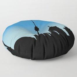 Toronto Skyline - Night Floor Pillow